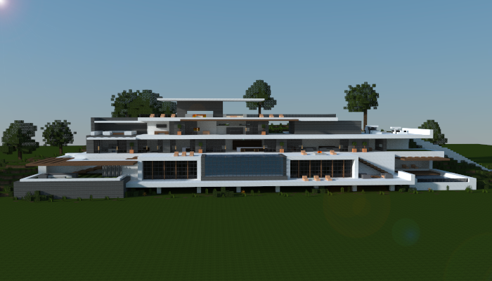 Large modern houses minecraft house modern for Minecraft big modern house schematic