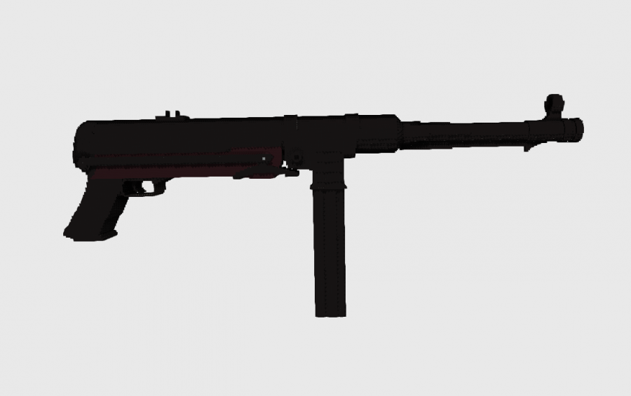 MP40 submachine gun, creation #8597