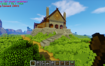 Rohan's great hall of Meduseld Medieval