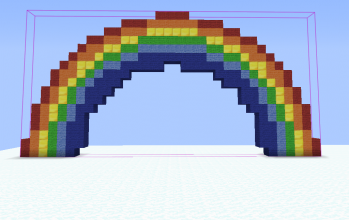 Rainbow pixel art (simple)
