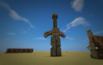 Ancient sword in the ground
