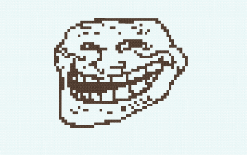 Trollface Pixel Art for Map Painting