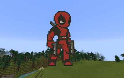 minecraft how to build deadpool