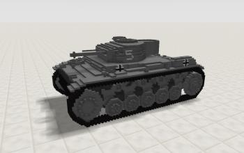 Panzer Kampfwagen II Ausf F/G (Turret)
