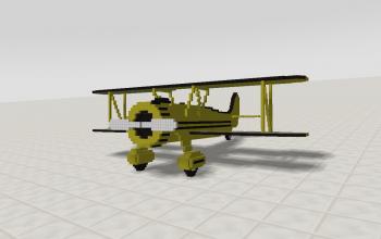 Biplane (yellow)