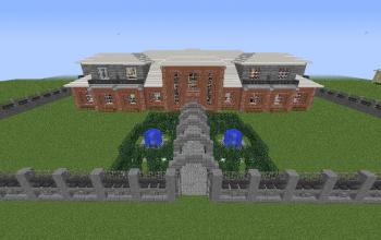 Mansion with partial garden