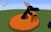 Obsidian Dragon with lava