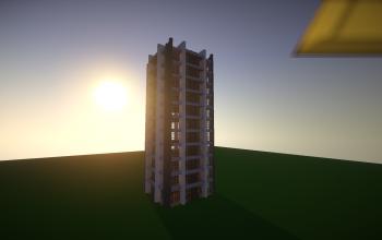 Modern grey tower (unfurnished)