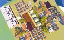 A medium sized player-created village