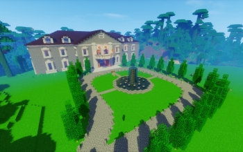 Mansion w Gardens and Auto Doors