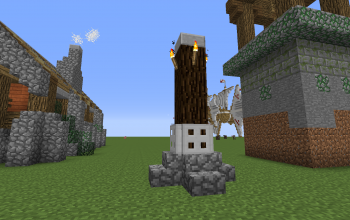 Rustic Lamp Post
