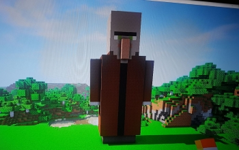 Statue of villager