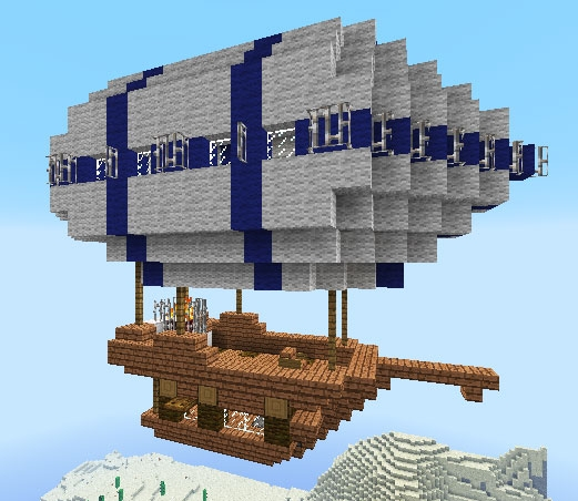 Small airship, creation #961 on small boats mod minecraft, small minecraft village, small minecraft ship plans, small minecraft yacht tutorial,