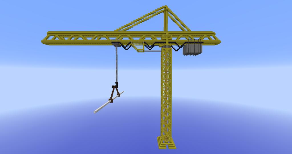 Yellow Construction Crane, creation #9630Minecraft Schematics