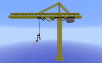 Yellow Construction Crane