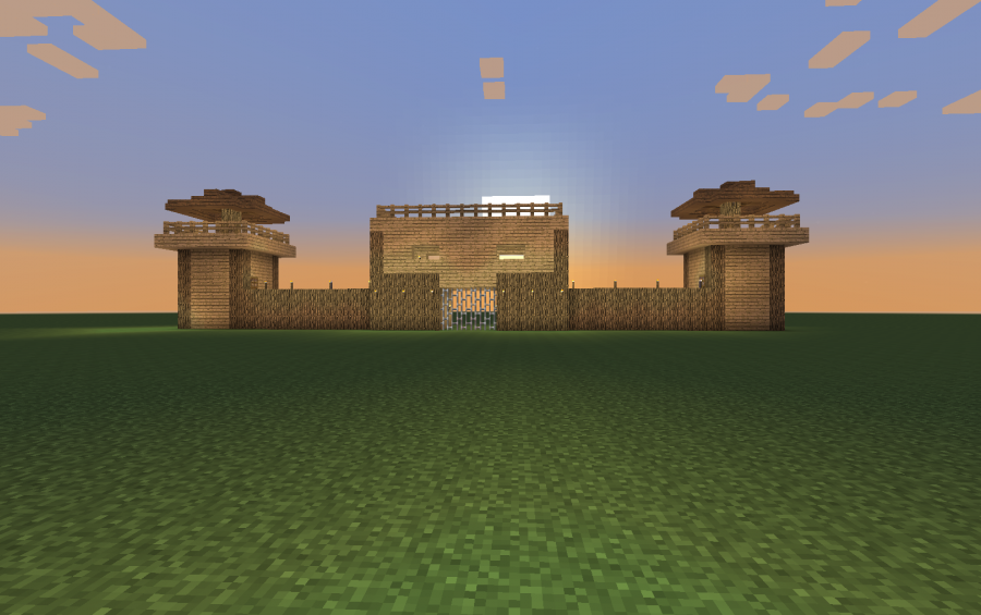 Castle Wall With Gate And Towers Creation 9651