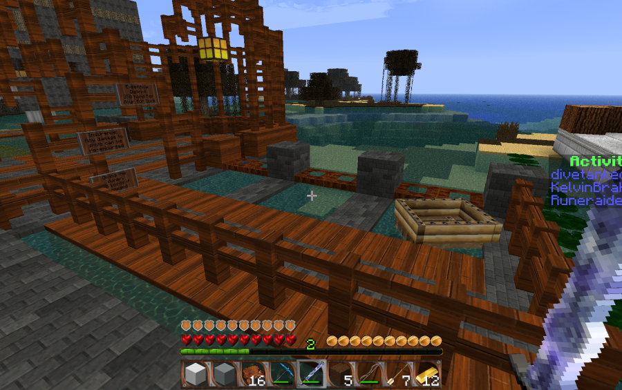 cool boat dock, creation #966 Minecraft Small Boat Schematic on small boats mod minecraft, small minecraft village, small minecraft ship plans, small minecraft yacht tutorial,