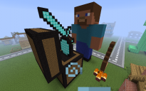 Steve Holding a Sword [FIXED*]