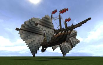 Tri-Wing Cargo Air Ship