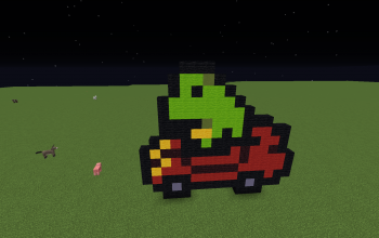 Frog in a car