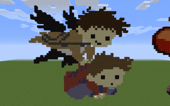 Dean and Castiel Pixel Art