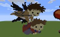 Dean and Castiel Pixel Art