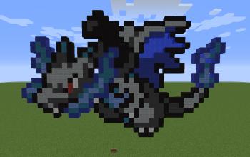 Mega Charizard X Pixel Art