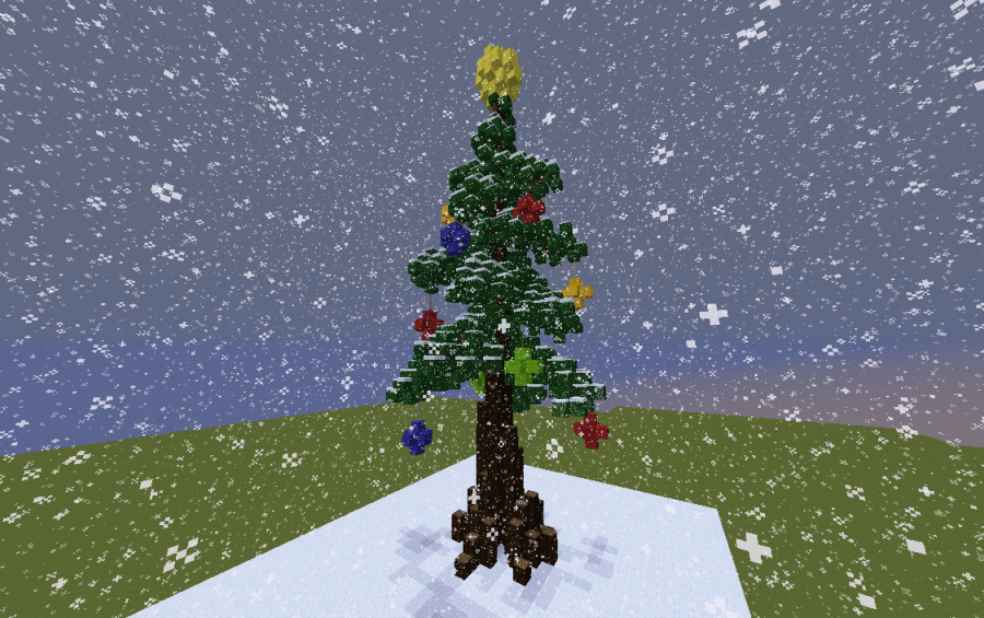 Minecraft Christmas Tree.Christmas Tree Creation 10831