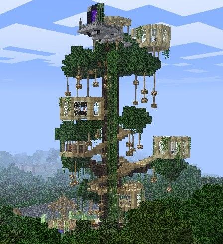minecraft treehouse schematic  | elsalvadorla.org