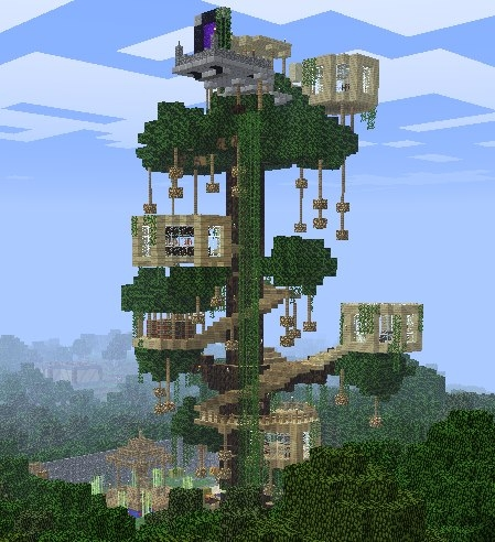 Liquidbeef 39 s treehouse creation 1144 - Casa del arbol minecraft ...