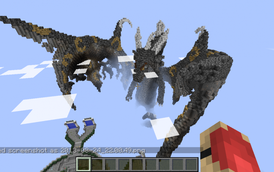 how to build a minecraft dragon head
