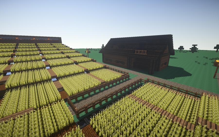 Minecraft Beautiful Garden massive semi-automatic farm, creation #2908