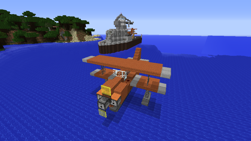 How To Build A Seaplane In Minecraft