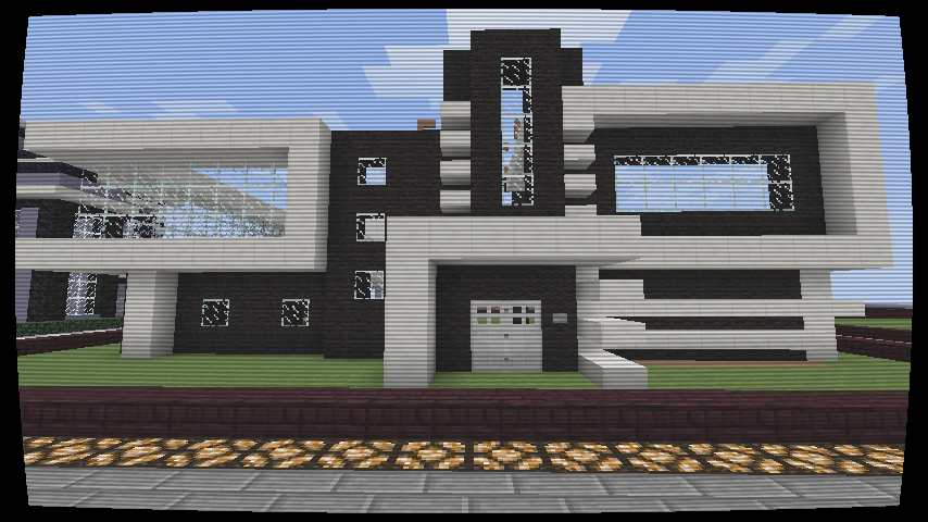 Modern House Black And White Creation 4333