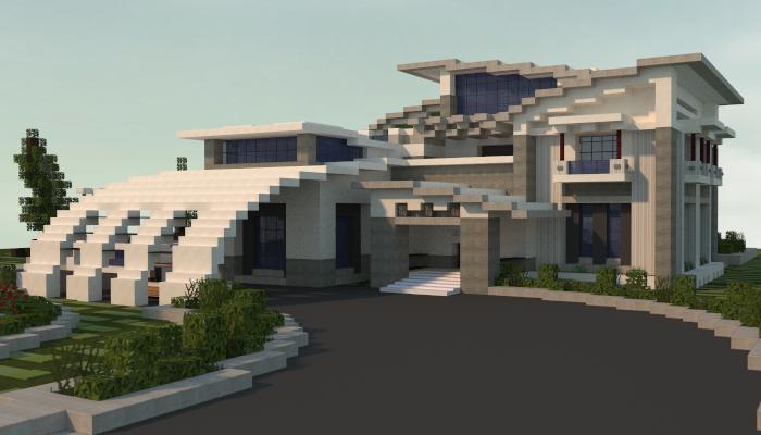 Modern House Minecraft Schematic