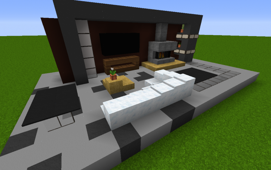 Small modern living room creation 4603 for A living room in minecraft