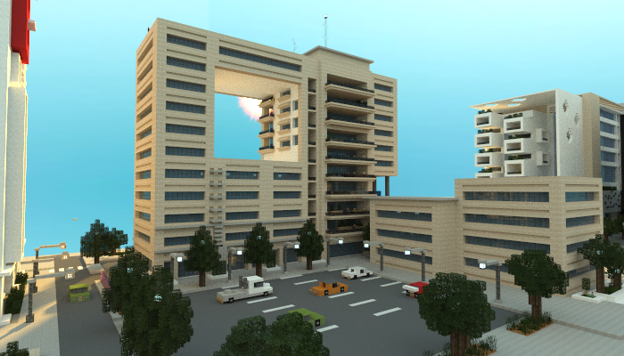 Modern Apartment Building, creation #4720