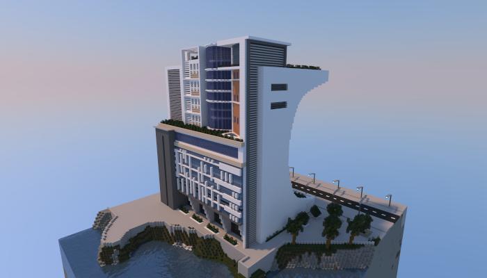 modernfuturistic building creation 4798