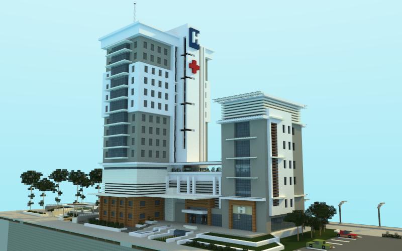 Modern hospital creation 5081 for Modern hospital building design