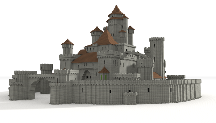 Castle unfurnished creation 5599 for How to build a castle home