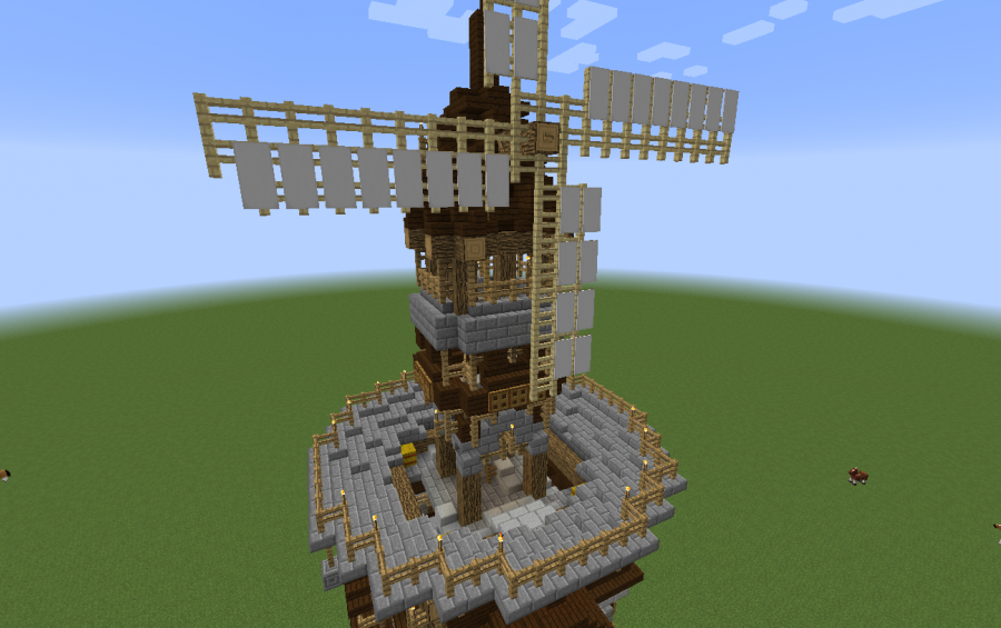 modern minecraft windmill