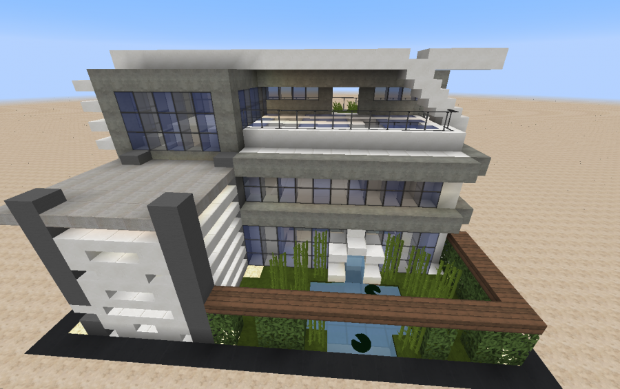20x20 modern house creation 6027 for Minecraft big modern house schematic