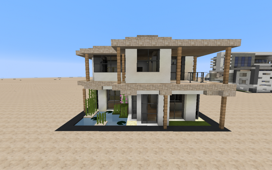 13x13 Modern Sandstone House, creation #6032