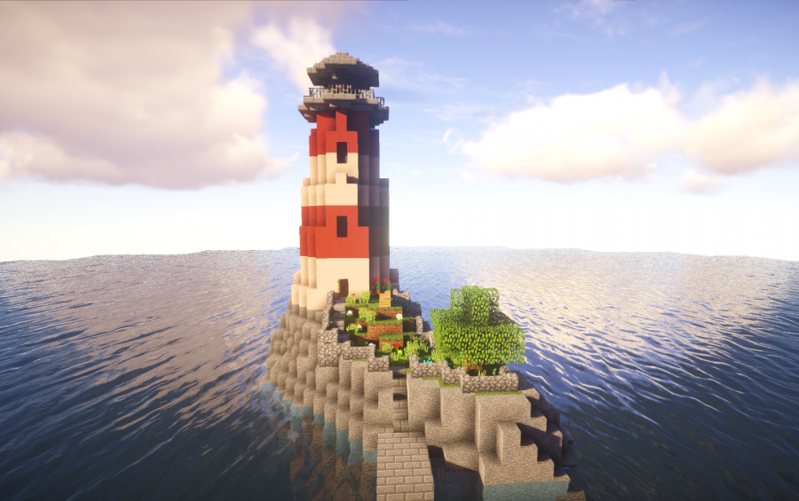 Light House With Working Lights Creation 7984