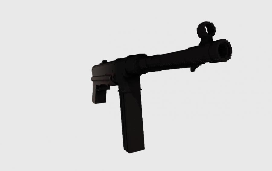 MP40 submachine gun, creation #8597