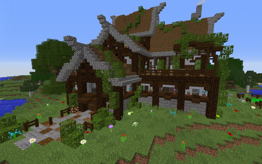 Rustic Wooden House  Creation  8768