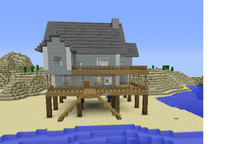 Minecraft schematics beach house minecraft beach house for Minecraft big modern house schematic